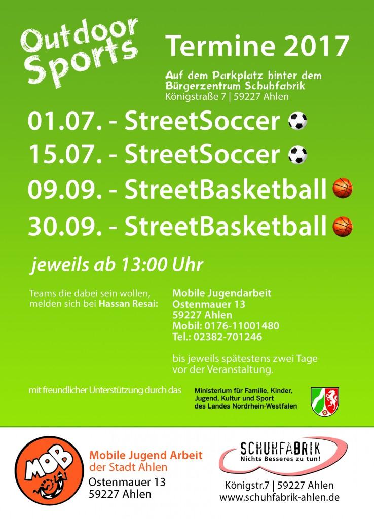 Outdoor-Sports präsentiert: Streetsoccerturnier
