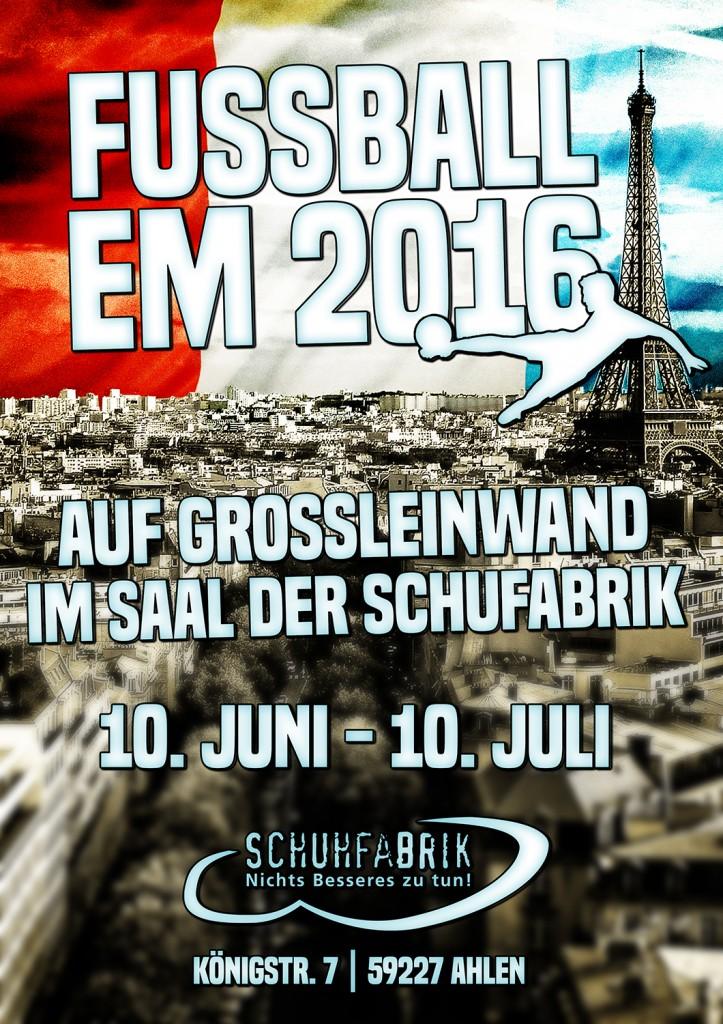Europameisterschaft auf Großleinwand
