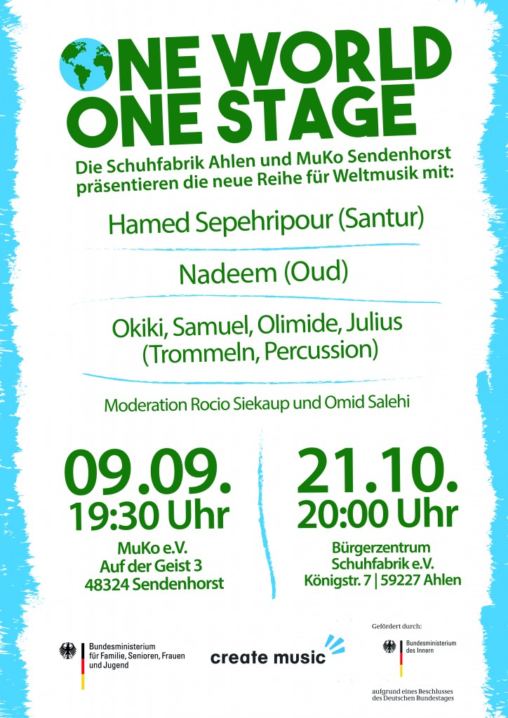 """One World – One Stage"" in der Schuhfabrik"