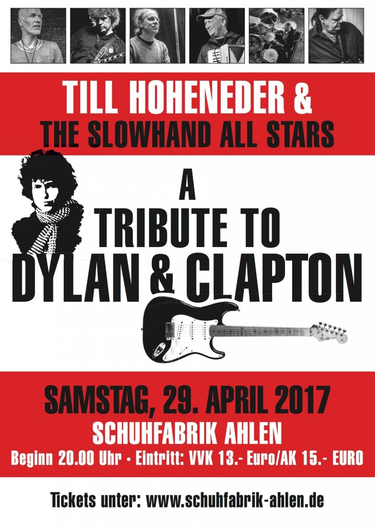 Till Hoheneder & The Slowhand All Stars ehren Dylan & Clapton