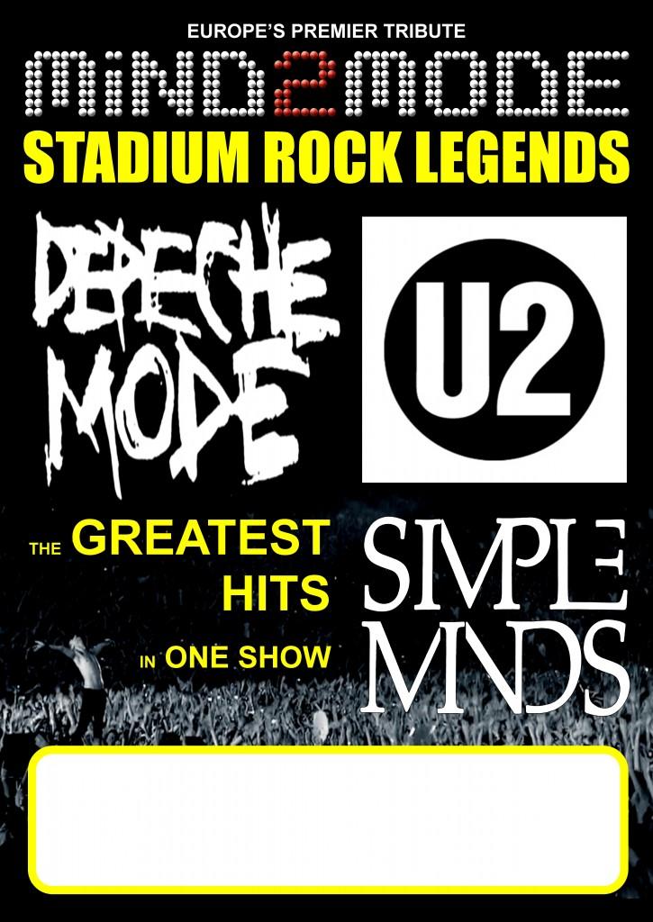 U2, Depeche Mode und Simple Minds mit Mind2Mode!