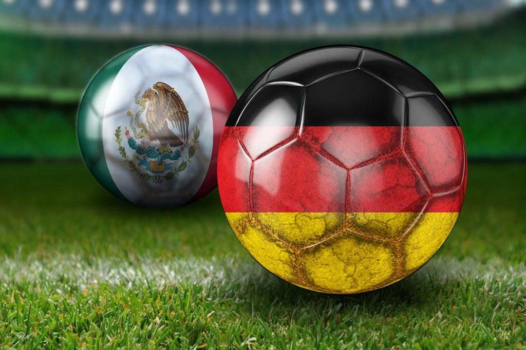 Deutschland -Mexico auf Großleinwand!