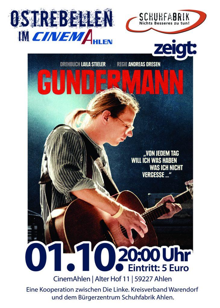 """Im CinemAhlen: """"Gundermann"""" in der Reihe """"Ostrebellen""""!"""