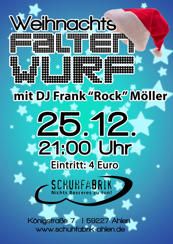 """Weihnachtsfaltenwurf mit DJ Frank """"Rock"""" Möller"""