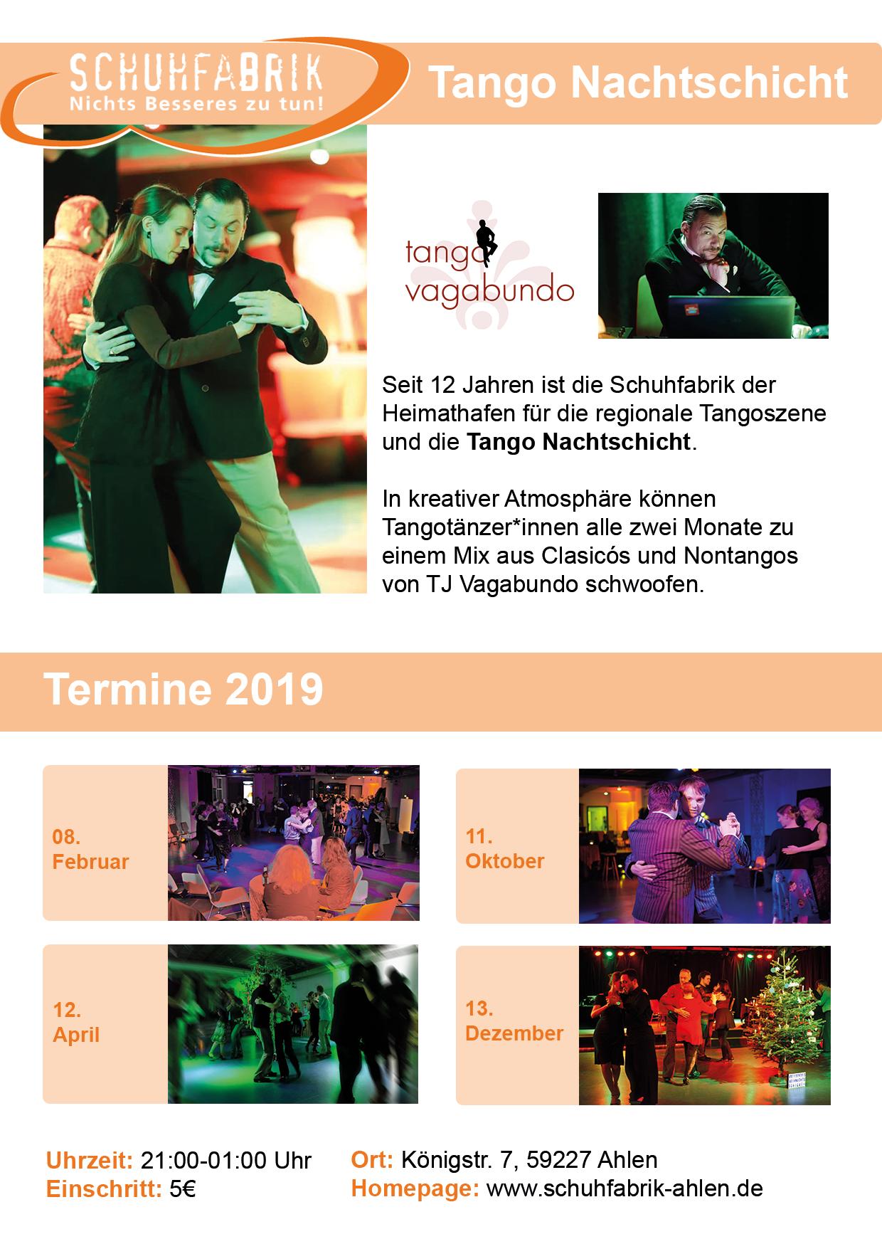Tango Nachtschicht mit DJ Vagabundo!