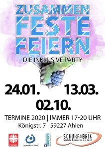 Zusammen-Feste-Feiern! Die inklusive Party lädt ein!