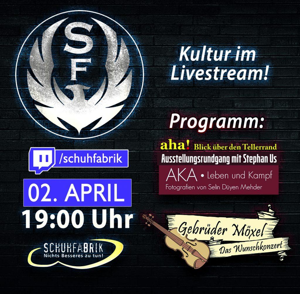 Schuhfabrik Live! – 02. April | 19 Uhr